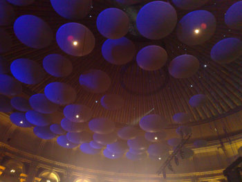 The Royal Albert Hall, the funky ceiling