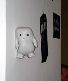 The Doctor Who Experience - Grey-um the Adipose, sticking around