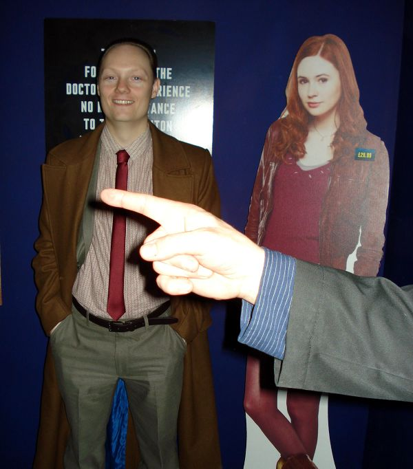Doctor Who Experience- Adam Purcell, Amy Pond and Keith Dunn's finger!