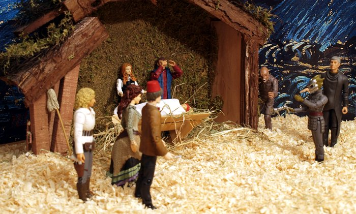 Chief Inspector Grey-um #1 - Nativity scene - not showing the roof, only the two gangs.
