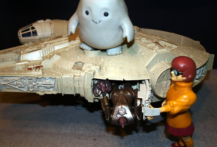 Chief Inspector Grey-um #1 - Cyril's body being stuffed into the Falcon.