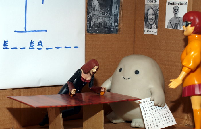 Chief Inspector Grey-um #2 - Back in the office, they find Vampire Willow, looking upset and with another puzzle.