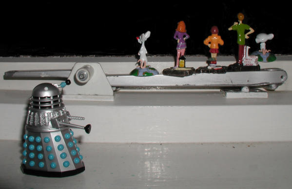Mr. Dalek finds Pinky, Daphne, Velma, Shaggy and the Brain looking out of the window