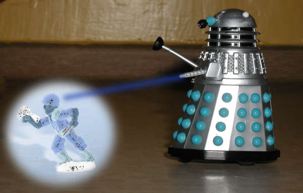 Mr Dalek exterminating the other toy