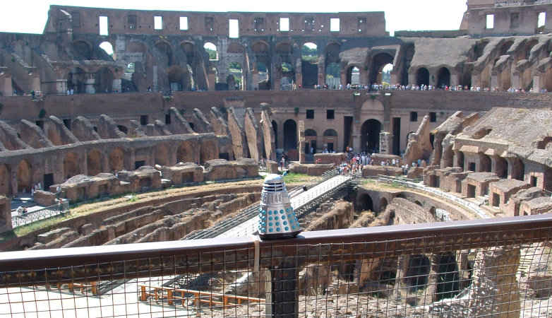 Mr. Dalek at the Colosseum