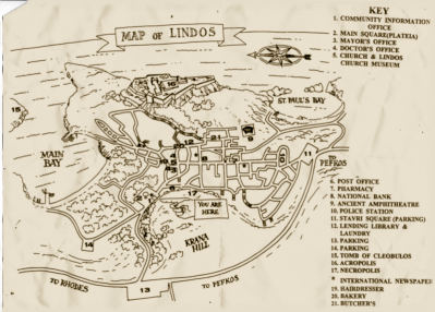A Map of Lindos, Rhodes