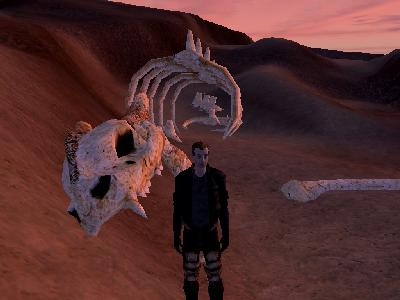 Star Wars Galaxies: Krayt Dragon skeleton