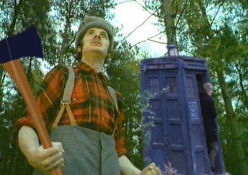 The Doctor's Head goes for a Roll - Lumberjack Attack!