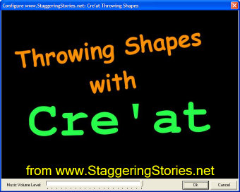 Cre'at Throwing Shapes Configuration Screen